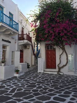 Greece Mykonos street