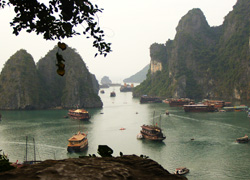 vietnam halong bay panorama view